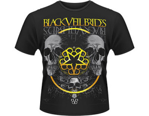 BLACK VEIL BRIDES grey skull