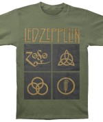 Led Zeppelin Symbols Verde 24€