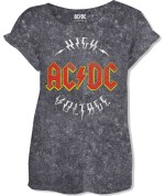 AC/DC Ladies Fashion Tee: Logo High Voltage (Acid Wash) 26,80€