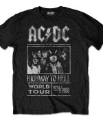 AC/DC Men's Tee: Highway to Hell World Tour 1979/1980. Negra 24€