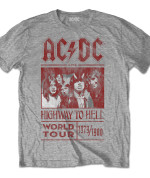 AC/DC Men's Tee: Highway to Hell World Tour 1979/1980 gris 24€