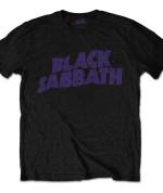 Black Sabbath Men's Tee: Wavy Logo Vintage 24€