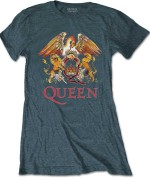 Queen Ladies Tee: Classic Crest 24€