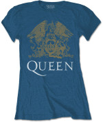 Queen Ladies Tee: Crest indigo blue  24€