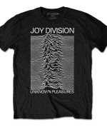 JOY DIVISION UNISEX TEE: UNKNOWN PLEASURES WHITE ON BLACK Camiseta Negro 24€